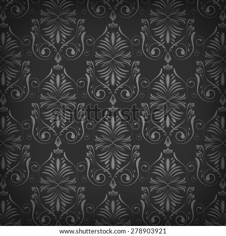 Dark vector wallpaper with abstract pattern/vector illustration with place for your content or creative editing - stock vector