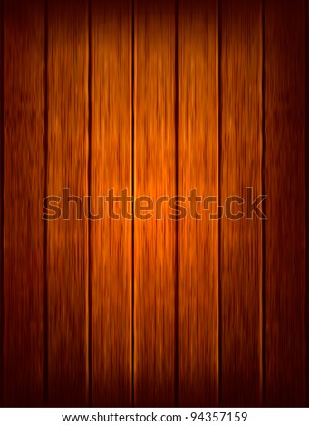 Dark wood background. Vector illustration - stock vector