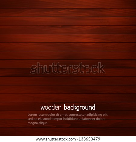 dark wooden background with place for your text - stock vector