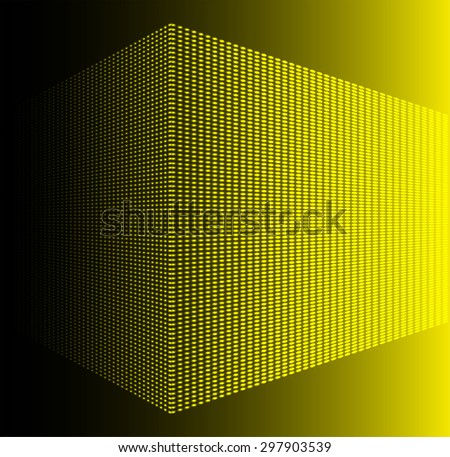 Dark yellow Abstract light lamps background for Technology computer graphic website internet and business.. Screen on stage. Vector illustration. Spot Effect. neon. point. dot - stock vector