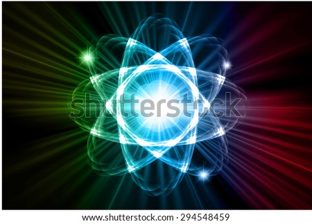 dark yellow blue red color Light Abstract Technology background for computer graphic website internet.circuit. vector illustration. Nuclear,proton,neutron, nucleus. atom. molecular.Spark ray beam aura - stock vector