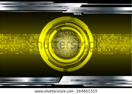 dark yellow color Light Abstract Technology background for computer graphic website internet and business. circuit. silver background. Pixel, mosaic, table - stock vector