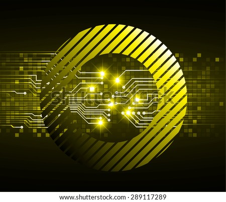 dark yellow color Light Abstract Technology background for computer graphic website internet and business. circuit. vector illustration. abstract digital . infographics. Grid mesh table