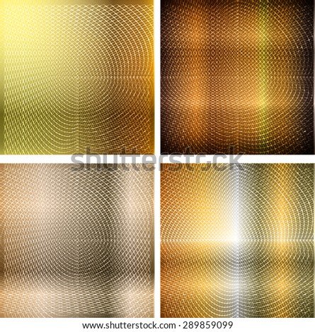 dark yellow gold metal texture abstract background.Metals,alloy. many, various - stock vector