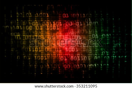 dark yellow red green Light Abstract Technology background for computer graphic website internet and business. circuit. illustration. infographics. binary code.www.vector.motion move blur.one zero
