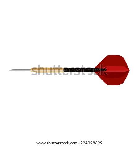 Dart arrow, dart arrow vector, dart arrow isolated - stock vector