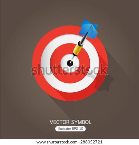 Dart board symbol. - stock vector