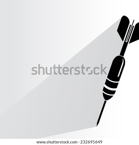 dart on white background, flat and shadow theme - stock vector