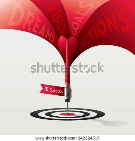 Dart Target Success Business Concept Vector Illustration - stock vector