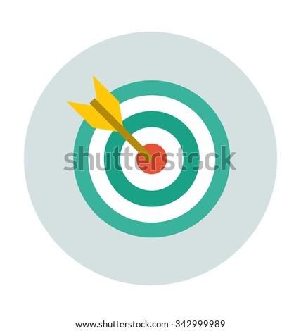 Dartboard Colored Vector Illustration  - stock vector