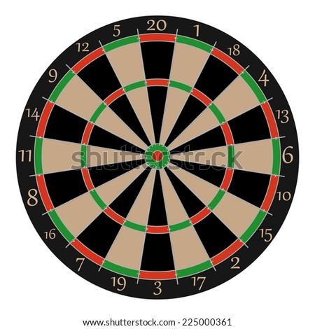 Dartboard, dartboard vector, dartboard isolated, professional dartboard - stock vector