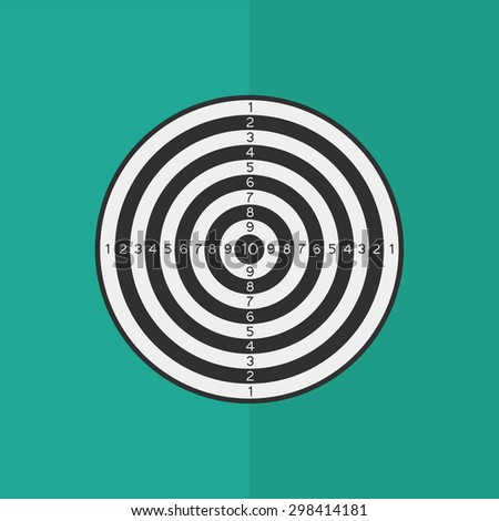 Dartboard vector icon. Flat design