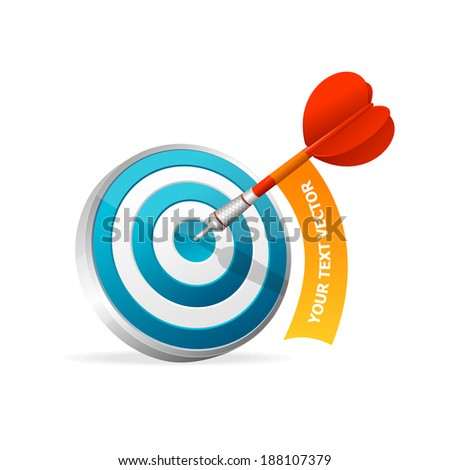Dartboard with dart. Illustration on white background - stock vector