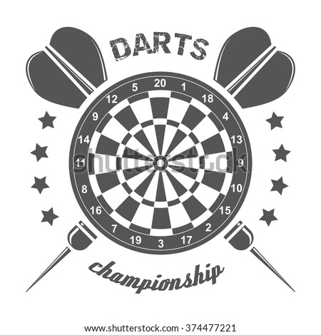 darts championship labels badges vector logos stock vector royalty