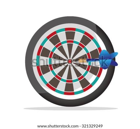 darts 3d illustration - stock vector