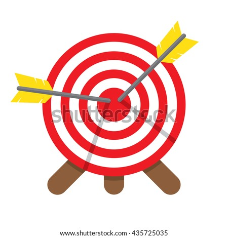 Darts Hitting A Target, on a white background Vector illustration