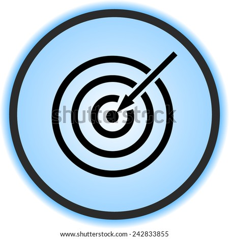 Darts target sign icon, vector illustration. Flat design style