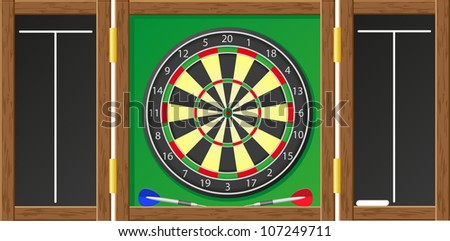 darts vector illustration isolated on white background