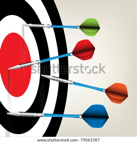 Darts with target - background