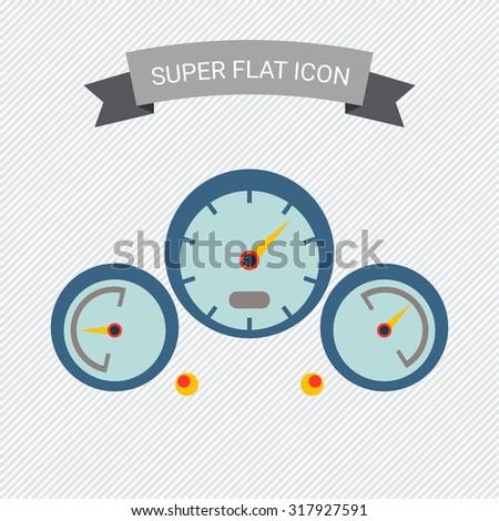 Dashboard icon - stock vector