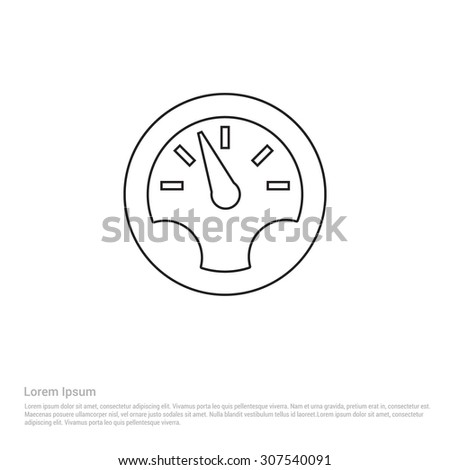 Dashboard Outline Icon, Vector Illustration, Flat pictogram icon - stock vector