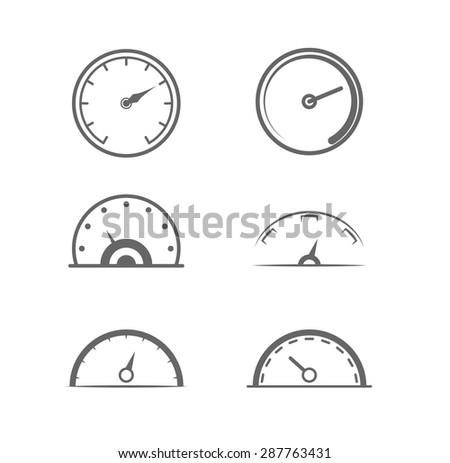 Dashboard / Speedometer icon set - stock vector