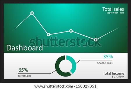 Dashboard vector illustration - stock vector