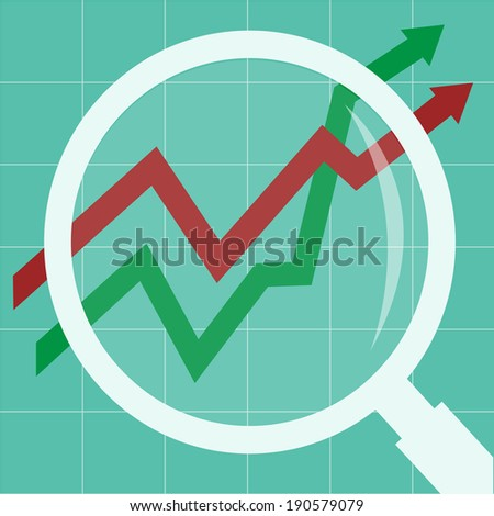 data analysis concept - stock vector