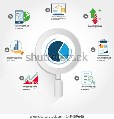 data analytic, business data analysis info graphic, icons  - stock vector