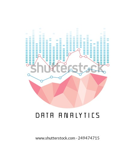 data analytics - stock vector