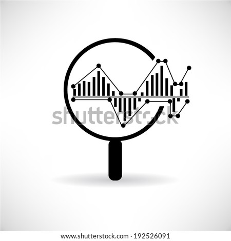 data analytics, big data concept - stock vector