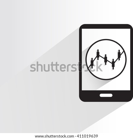 data analytics monitoring mobile phone  - stock vector