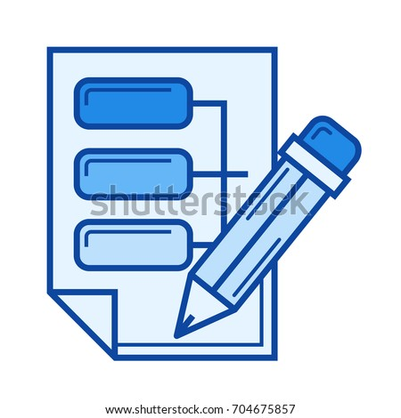 Data Architecture Vector Line Icon Isolated On White Background For Infographic