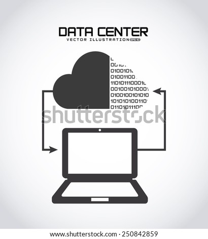 data center design, vector illustration eps10 graphic  - stock vector