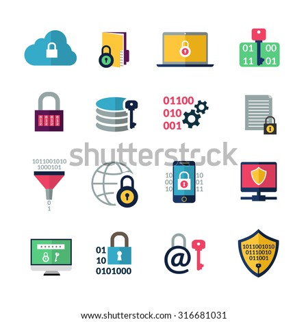 Laptop Encryption Clip Art
