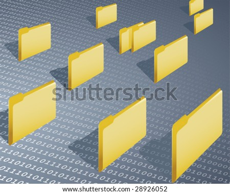 data folder - stock vector