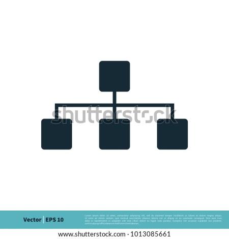 Data Network Diagram Icon Vector Logo Stock Vector 1013085661