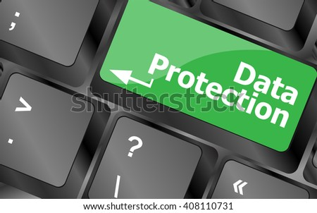 data protection button on the keyboard keys. Keyboard keys icon button vector. Vector keyboard keys button Icon logo, keyboard keys button vector Icon Sign - stock vector