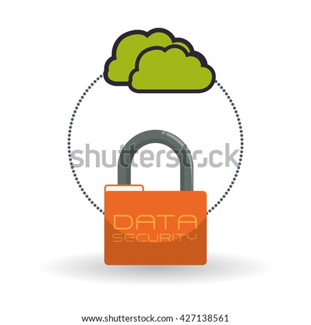 Data Security design. Protect icon.