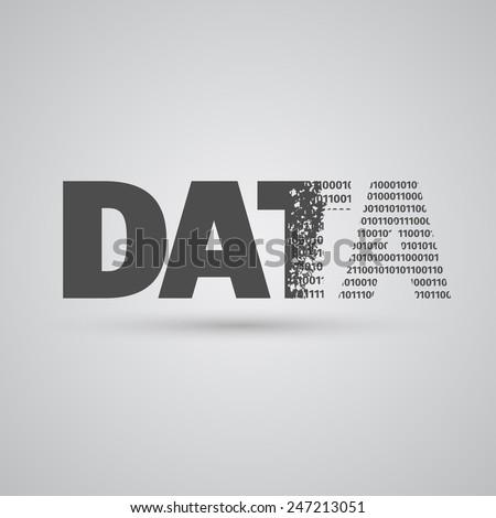 Data sign, vector - stock vector