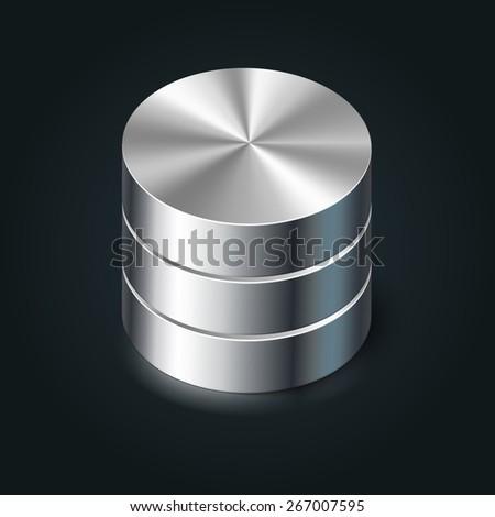 Data Storage Icon, vector database illustration - stock vector
