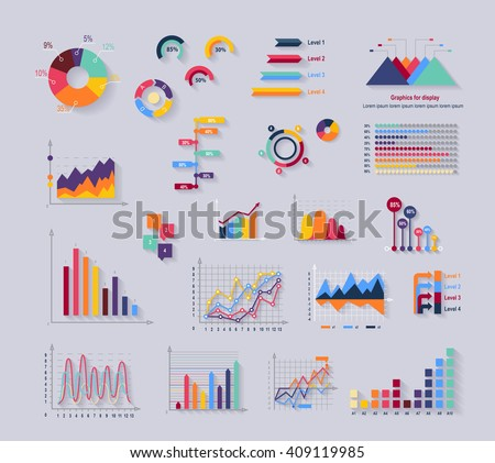 Data tools finance diagram and graphic. Chart and graphic, business diagram data finance, graph report, information data statistic, infographic analysis tools vector illustration - stock vector