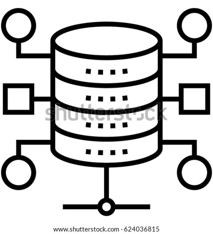 Database Architecture Vector Icon