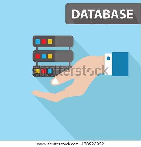 Database concept,vector - stock vector