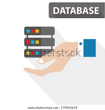 Database concept,vector