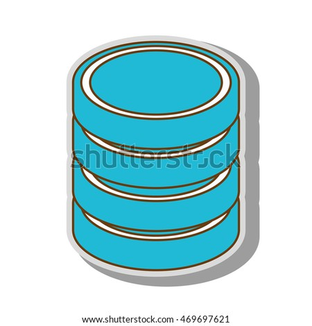 database hard disk host information cylinder system data pc vector  illustration isolated