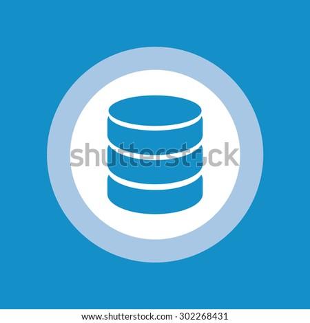 Database icon - stock vector