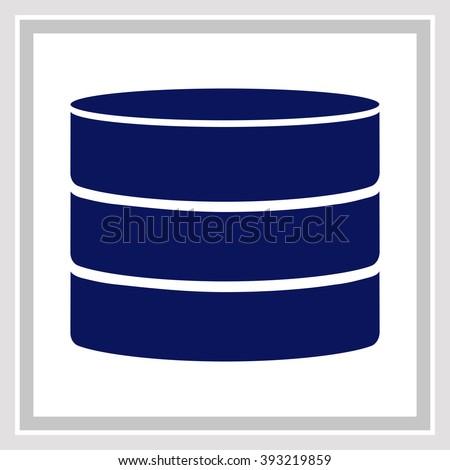 Database Icon / Database Icon Vector / Database Icon Object / Database Icon Picture / Database Icon Image / Database Icon JPG / Database Icon JPEG / Database Icon EPS / Database Icon Drawing - stock vector
