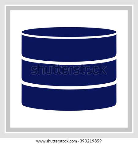 Database icon. Simple black vector symbol. Logo for web. Image for business.