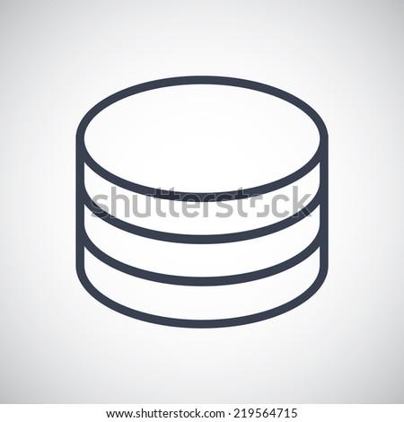 Database Storage symbol icon. Vector pictogram. Simple flat metro design style. esp10 - stock vector